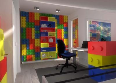 Projekt wnętrza pokoju dla 6-latka w Bydgoszczy