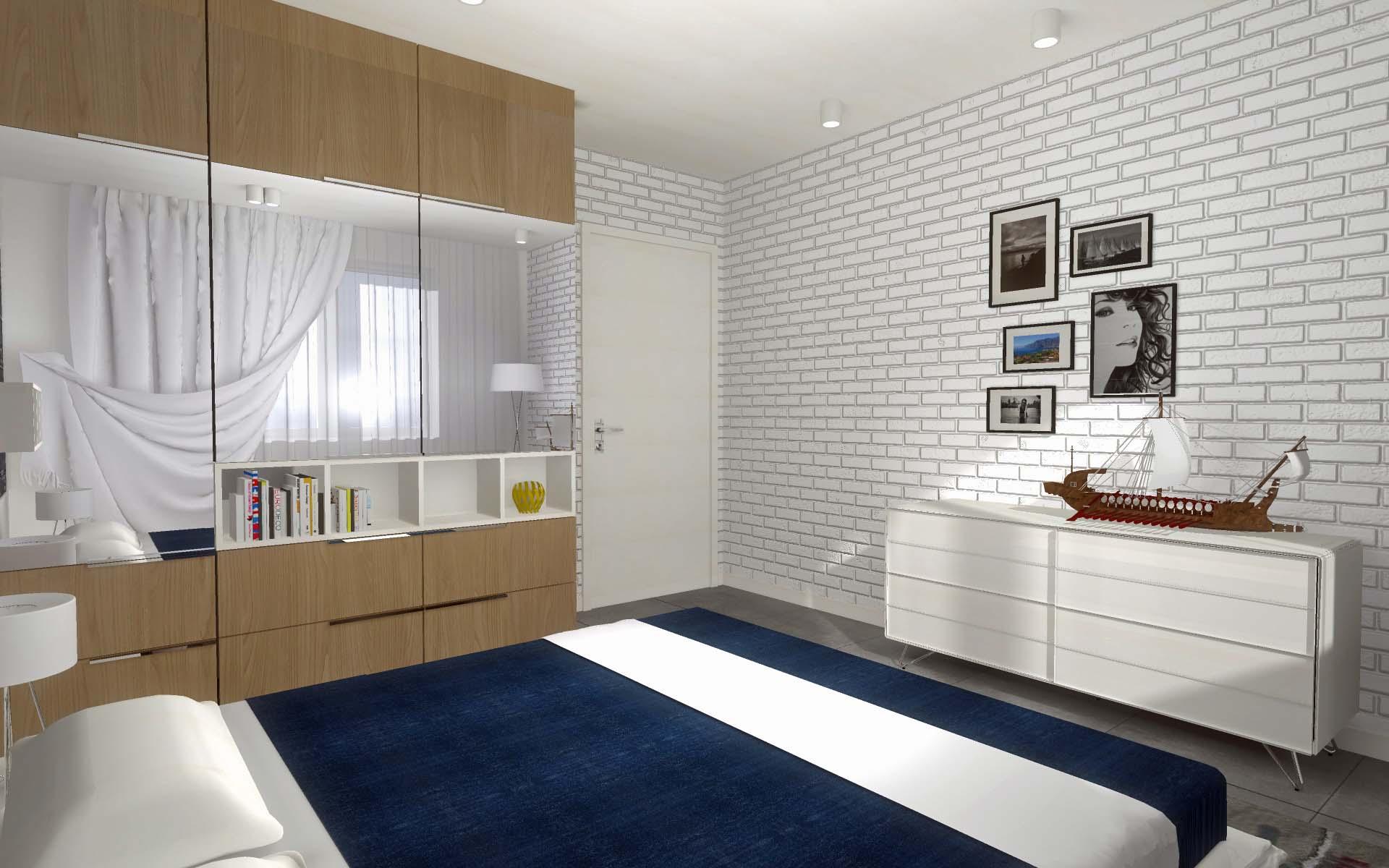 Projekt wnętrza morskiego apartamentu Kropla Bałtyku - Mobiliani Design Bydgoszcz