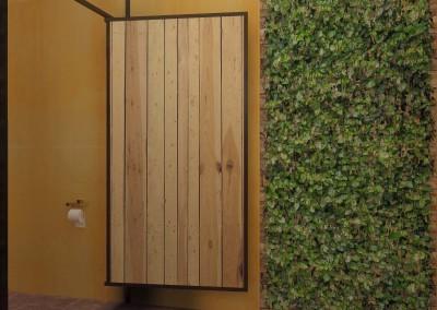 Projekt wnętrza toalety - ściana boczna.