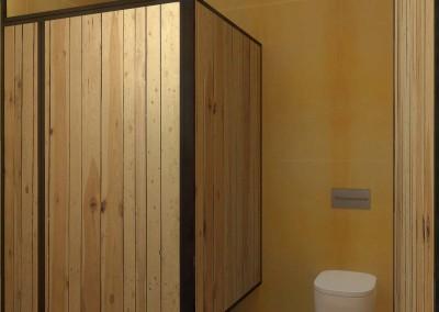 Wnętrze toalety damskiej - projektowanie w Bydgoszczy.