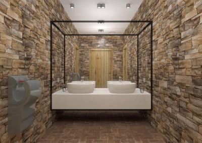 Umywalki w toalecie projektu wnętrza.