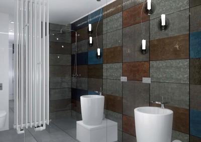 Łazienka zaprojektowana przez biuro Mobiliani Design z Bydgoszczy.