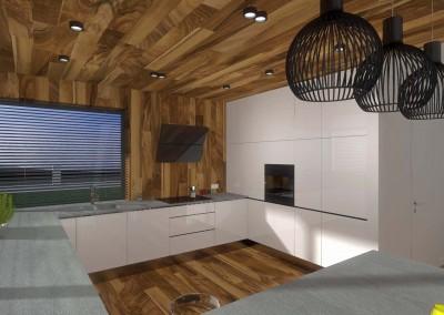 Minimalistyczna, nowoczesna i designerska kuchnia.