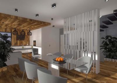 Jadalnia połączona z kuchnią