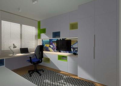 Podczas projektowania wnętrz, pomyślano o nowoczesnych i funkcjonalnych meblach na wymiar