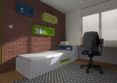 Efekt eleganckiej i stylowej ściany z cegieł jako uzupełnienie nowoczesnego wnętrza