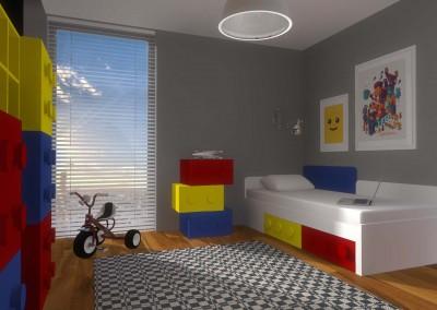 Projekt wnętrza pokoju dziecięcego od Mobiliani Design.