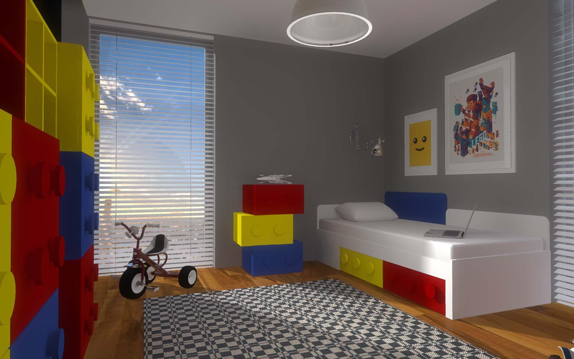 Projektowanie Wnętrz Pokoju Z Meblami Z Klocków Mobiliani Design