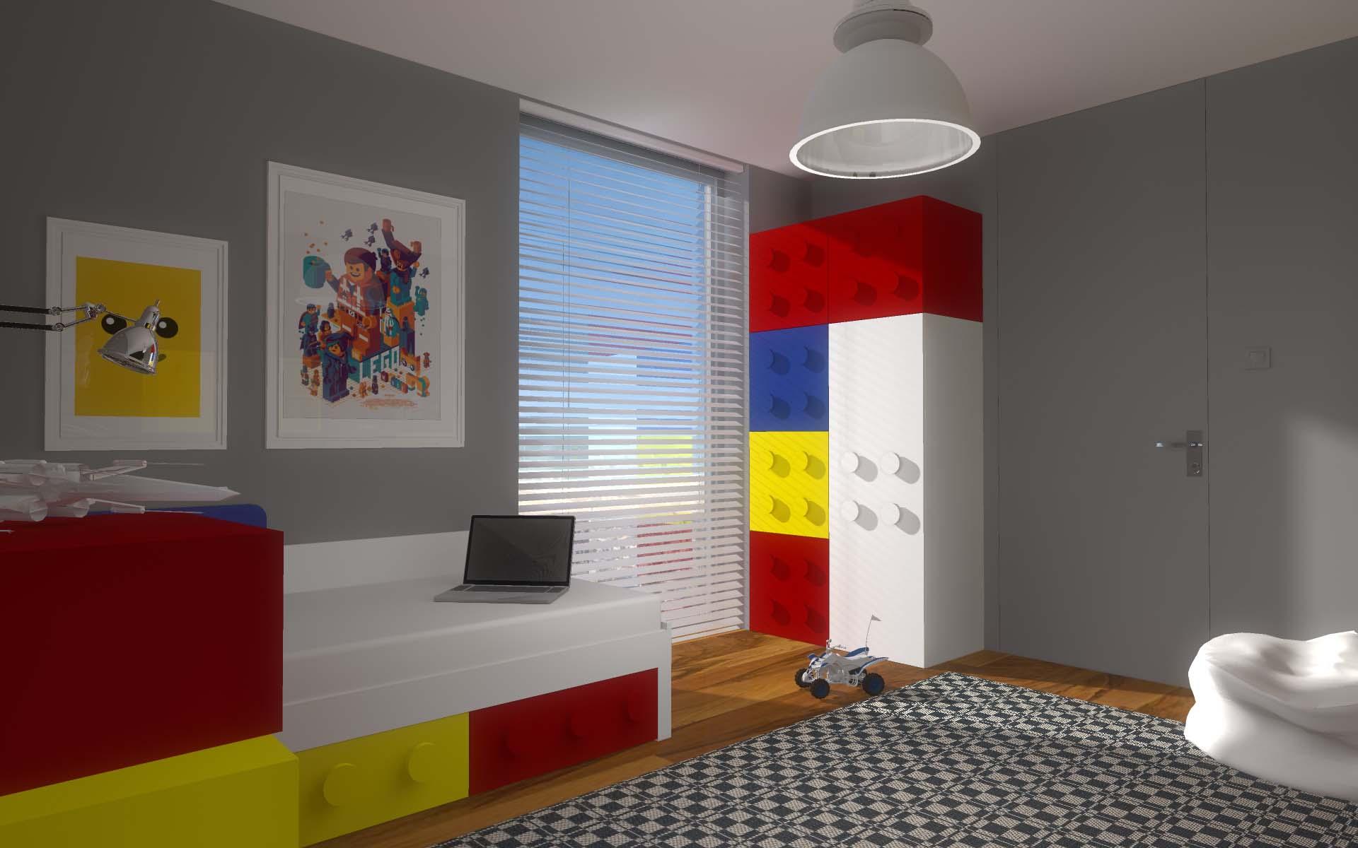 Projektowanie wnętrz pokoju z meblami z klocków