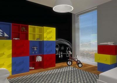 Pokój dla dziecka - wystrój wnętrza od Bydgoskich architektów.