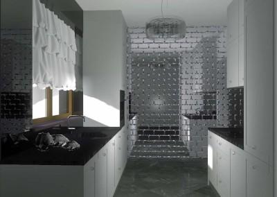 Projekt i aranżacja wnętrza nowoczesnej kuchni w Niemczu