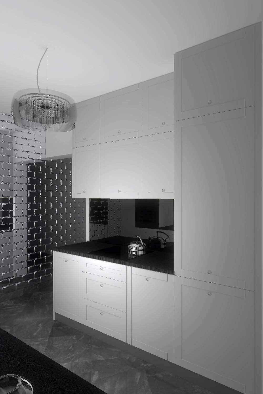 Projekt wnętrza stylowej i designerskiej kuchni w Niemczu