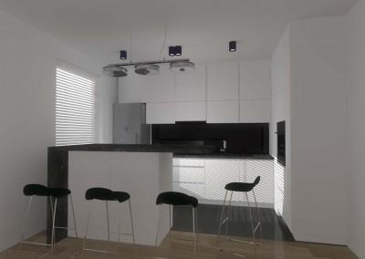 Projekt wnętrza designerskiej i eleganckiej kuchni, wykonanej dla klienta w Bydgoszczy