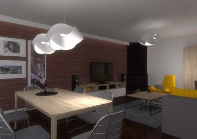 Wnętrze nowoczesnego salonu przygotowane dla mieszkania w Bydgoszczy