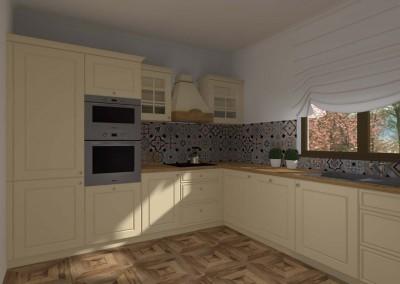Projekt wnętrza kuchni w stylu klasycznym