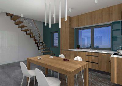 Jadalnia zaprojektowana przez Mobiliani Design, Bydgoszcz.