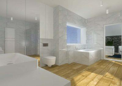 Projekt wnętrza domu - toaleta.