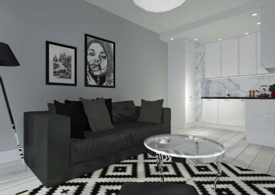 Wnętrze salonu w projekcie od Mobiliani Design.