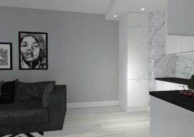 Salon w mieszkaniu na bydgoskim osiedlu Arkada.