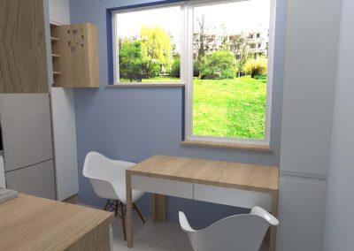 Projekt kuchni Blue Design