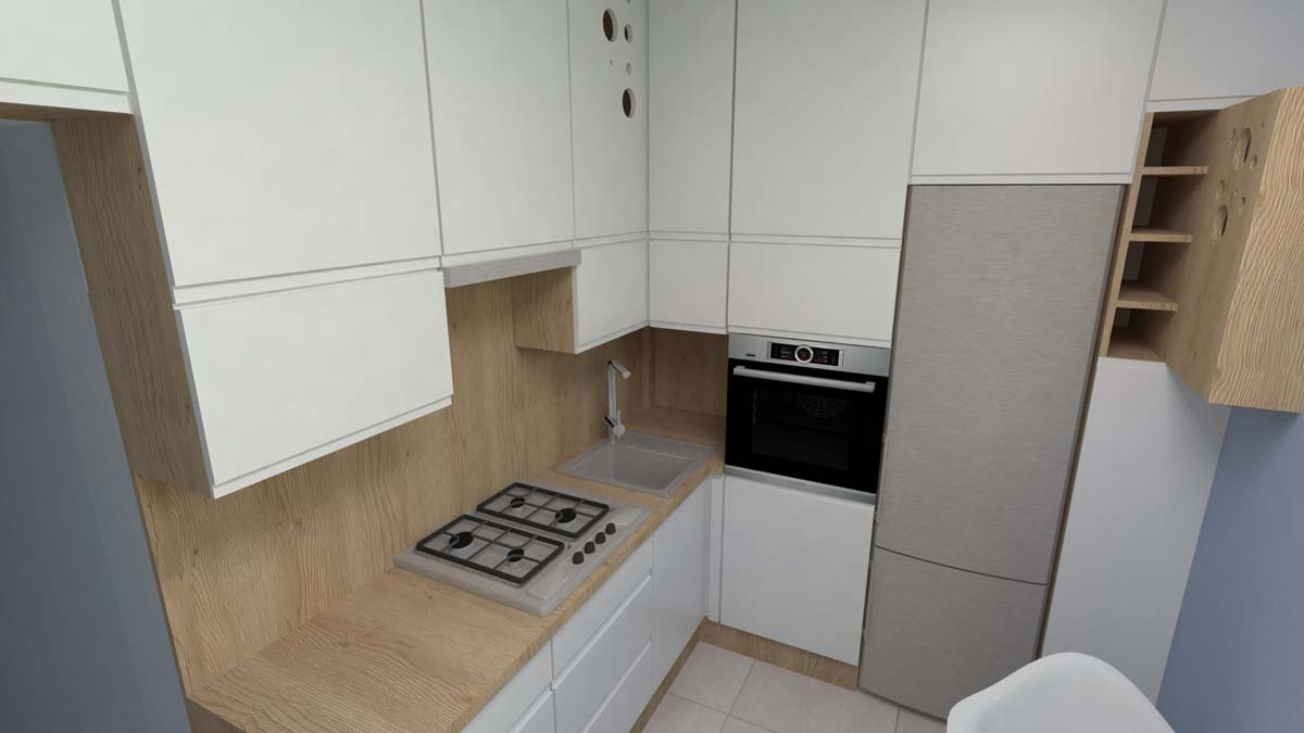 Projekt kuchni Blue Design - Mobiliani Design Bydgoszcz
