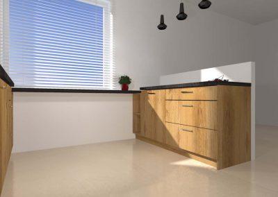 Przestronność w kuchni zapewnia wygodę i komfort