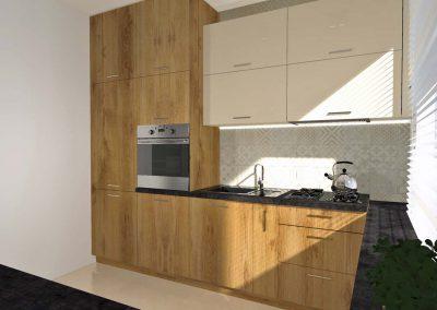 Meble, szafki kuchenne i blaty wykonywane są na wymiar z wysokiej jakości materiałów