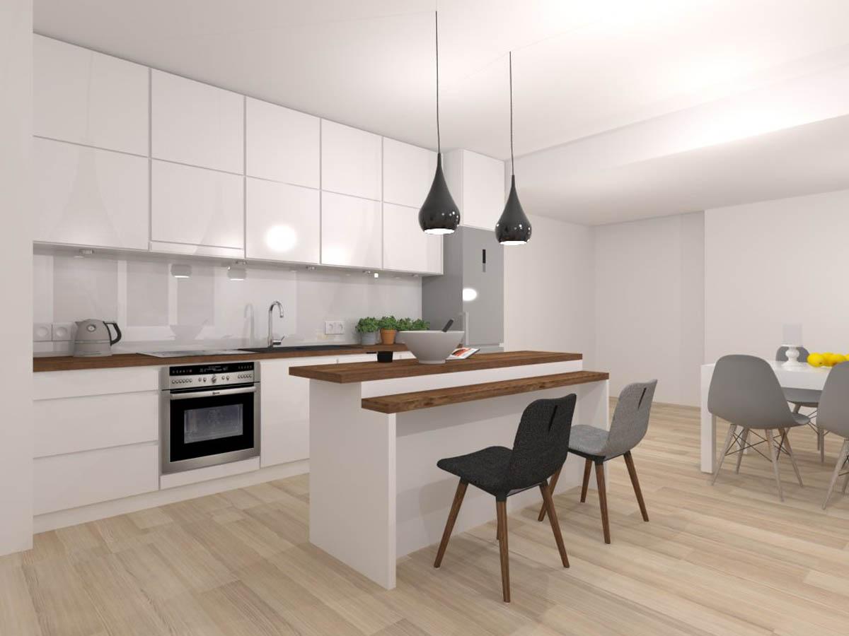 Biała Minimalistyczna Kuchnia Mobiliani Design Bydgoszcz