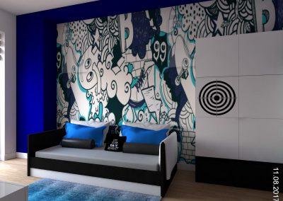 Projekt pokoju dziecięcego w domu jednorodzinnym