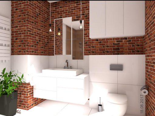 Projekt aranżacji łazienki w domu jednorodzinnym