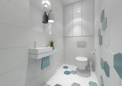 Projekt małej łazienki dla domu w Bydgoszczy