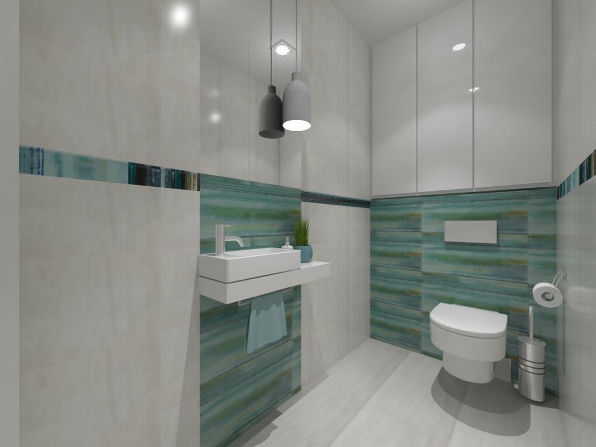 Projekt małej, jasnej łazienki - Mobiliani Design Bydgoszcz