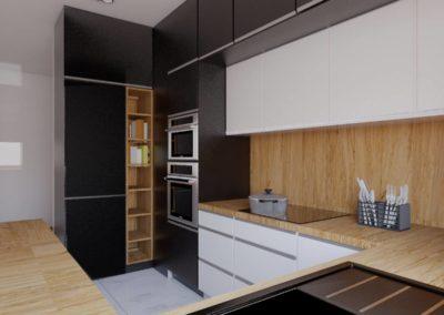 Kuchnia biel i czerń
