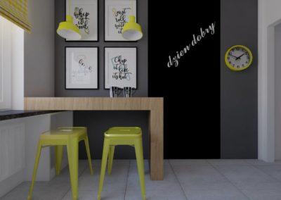 Kuchnia szaro-biała