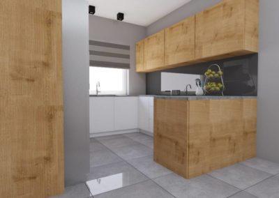 Kuchnia w naturalnym drewnie i bieli