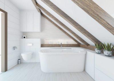 Aranżacja wnętrza łazienki w bieli