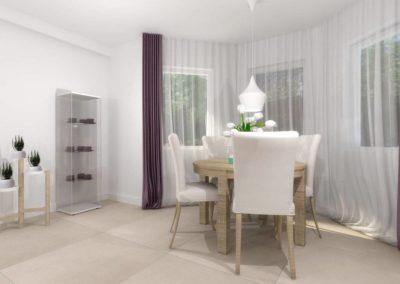 Salon z jadalnią - wnętrze