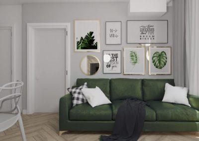 Projekt wnętrza małego mieszkania
