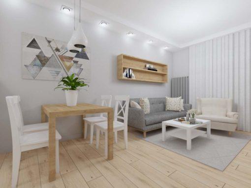 Jasne i nowoczesne mieszkanie